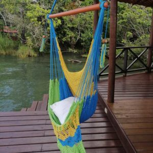 Tropical colored hammock swing