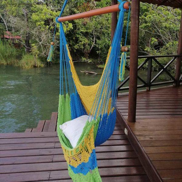 Columpio hamaca colores tropicales
