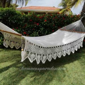 large white luxury hammock