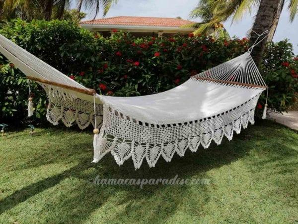 large white luxury hammock
