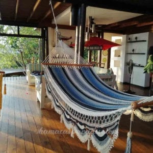 large hammock blue-gray-white lines