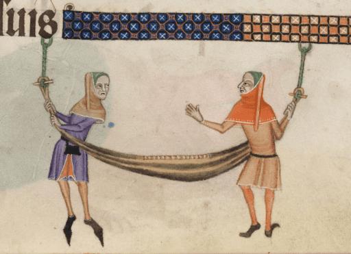 Hamaca en el Salterio de Luttrell (c. 1330)