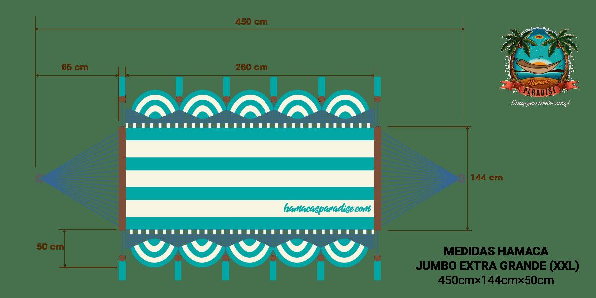 Dimensiones hamaca Jumbo Extra Grande